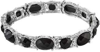 1928 Faceted Oval Stretch Bracelet