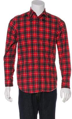 Givenchy Star Print Plaid Shirt