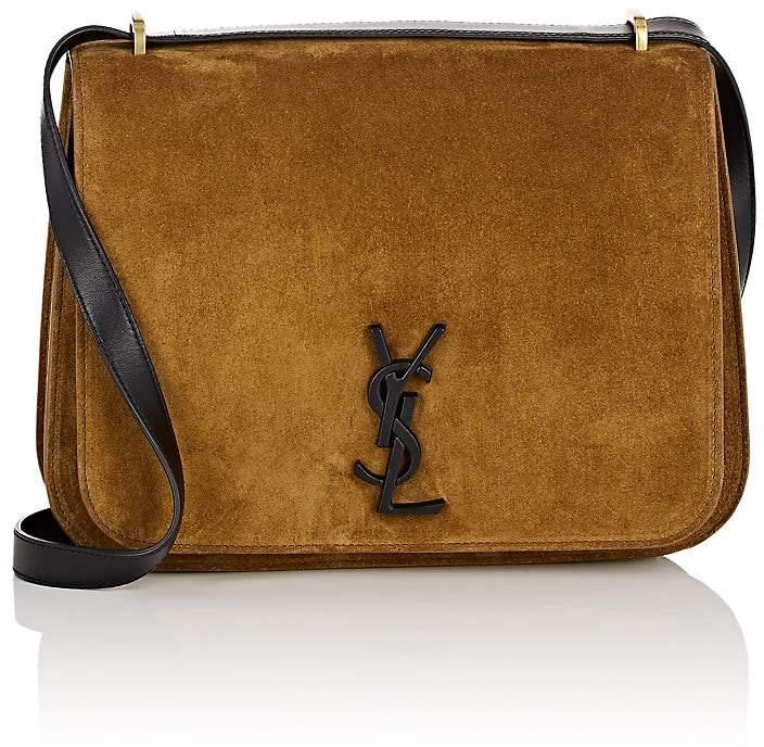 Saint Laurent Women's Spontini Medium Suede Saddle Bag