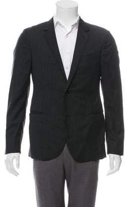Lanvin Wool Pinstriped Blazer black Wool Pinstriped Blazer
