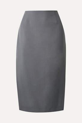 Prada Mohair And Wool-blend Pencil Skirt - Gray