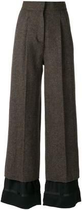 Maison Margiela flared wool trousers