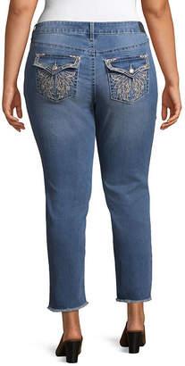 LOVE INDIGO Love Indigo Embellished Pocket Crop Jean - Plus