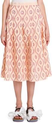Marni Taffeta Pleated Skirt