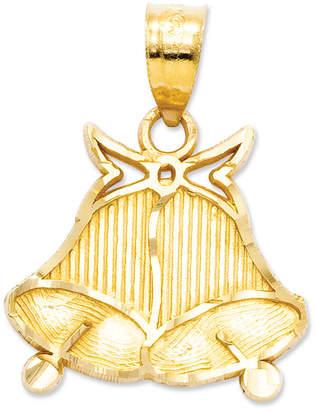 Macy's 14k Gold Charm, Wedding Bells Charm