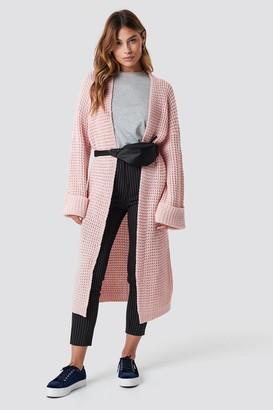 NA-KD Na Kd Oversized Chunky Sleeve Knit Dark Grey