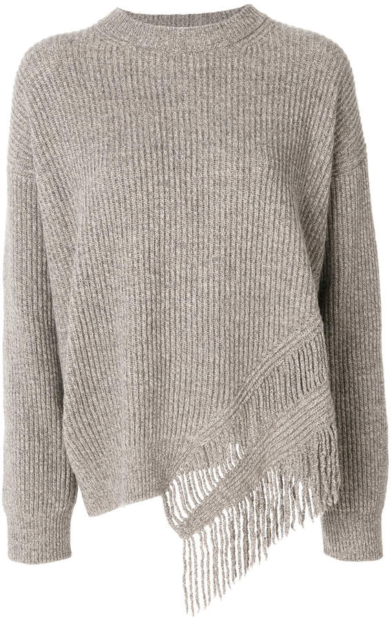 Stella McCartney fringe-trimmed jumper