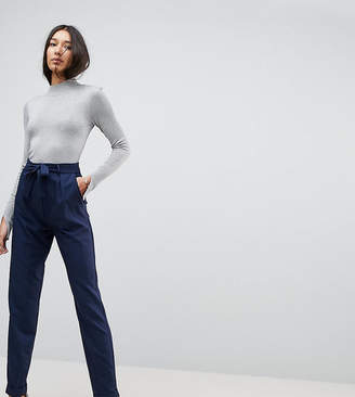 Asos Tall TALL Woven Peg Trousers With Obi Tie