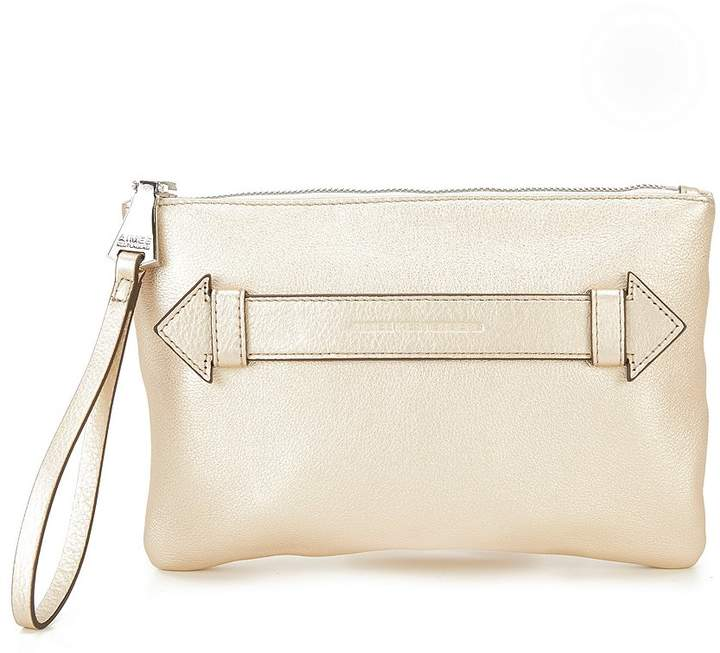 Kate Spade Aimee Kestenberg Melville Metallic Pouch - CHAMPAGNE - STYLE