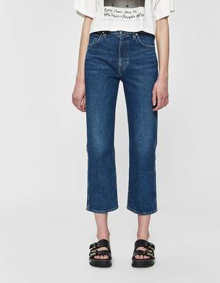 Gold Sign Cropped Jean in Hayward