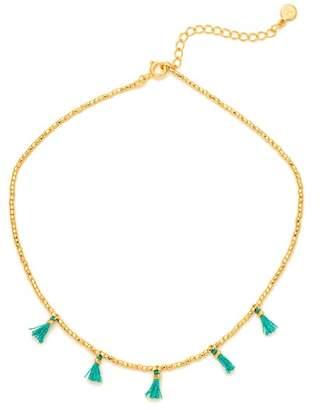Gorjana Playa Beaded Tassel Choker Necklace