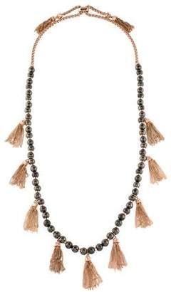 Kendra Scott Pyrite Bead Tassel Necklace