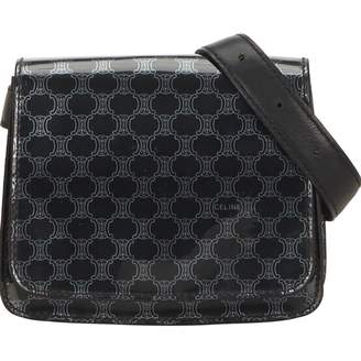 Celine Vintage Belt Black Cloth Clutch Bag