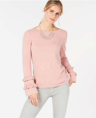 Charter Club Ruffled Pure Cashmere Sweater, Created for Macy's