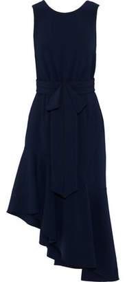 Sachin + Babi Merle Asymmetric Bow-Embellished Crepe Dress