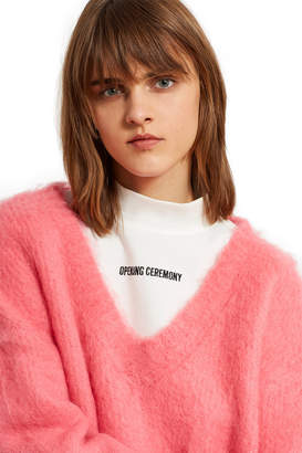 Opening Ceremony Mohair V-Neck Sweater