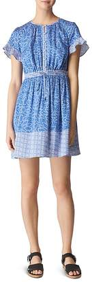 Whistles Riya Print Drawstring Dress
