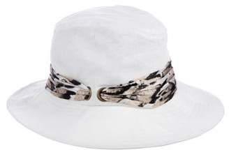 Eugenia Kim Leopard Print-Trimmed Hat