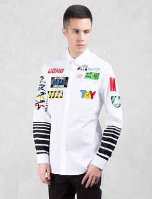Moschino Multi Logo Print L/S Shirt