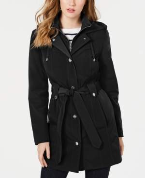 22fdc8387 Front-Zip Hooded Trench Coat