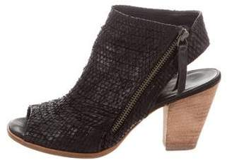 Paul Green Peep-Toe Ankle Boots