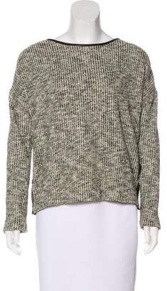 Yigal Azrouel Leather-Trimmed Zip-Accented Sweater