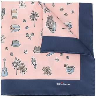Kiton patterned pocket square
