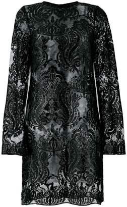 Iil7 sequin appliqué short dress