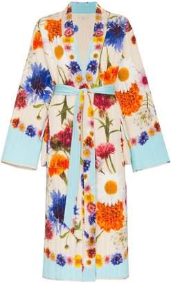 Natasha Zinko floral print quilted silk maxi robe