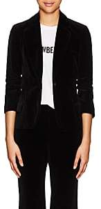 Nili Lotan Women's Humphrey Cotton Velvet Single-Button Blazer - Black