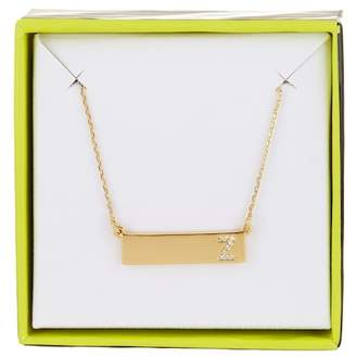 BaubleBar 14K Gold Plated Ice 'Z' Initial Bar Pendant Necklace