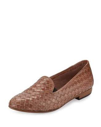 Sesto Meucci Nader Woven Leather Loafer, Natural $275 thestylecure.com
