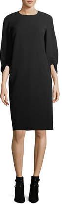Lafayette 148 New York Tory 3/4-Sleeve Finesse Crepe Shift Dress