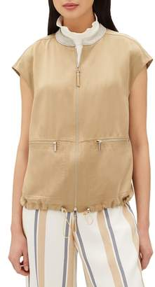 Lafayette 148 New York Tonya Artistry Silk Chain Detail Vest