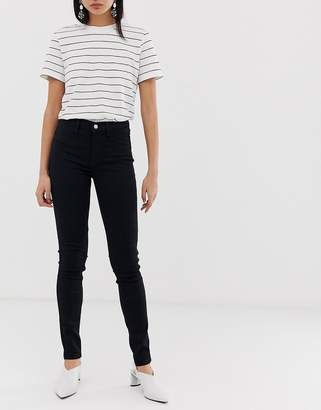 Selected clean skinny jean in black