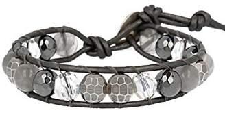 Chan Luu Hematite Mix Single Wrap Bracelet