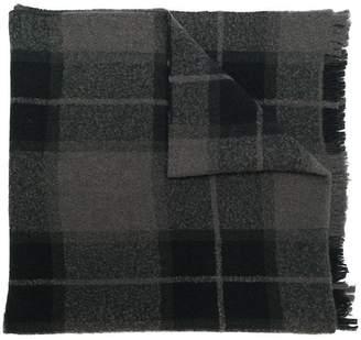 Rick Owens check scarf
