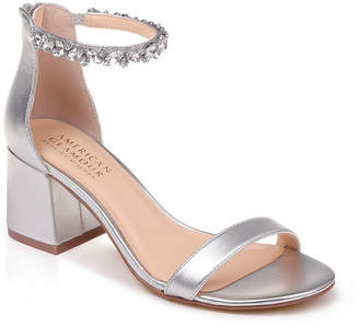 Badgley Mischka AMERICAN GLAMOUR American Glamour Womens Charm Pumps Buckle Open Toe Block Heel