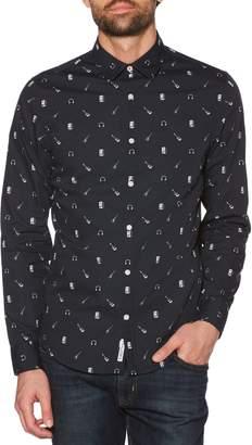 Original Penguin Slim Fit Rock Band Print Sport Shirt
