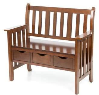 Three Posts Gaskell Wood Storage Bench