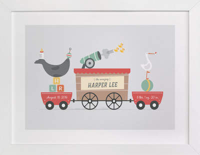 The Big Top Children's Custom Art Print
