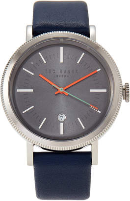 Ted Baker 10031505 Silver-Tone & Blue Watch