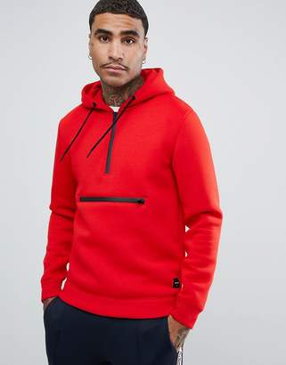ONLY & SONS Scuba Sweatshirt With Hood In Red