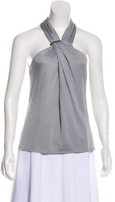 Halston Sleeveless Halter Top