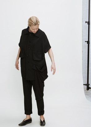 Yohji Yamamoto black out pkt spare collar jacket $1,630 thestylecure.com