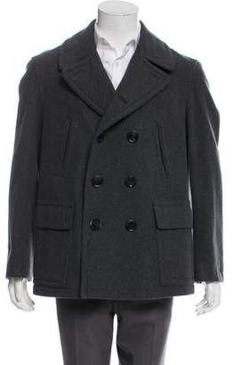 Burberry Wool-Blend Exploded Check-Lined Coat