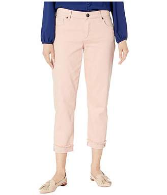 KUT from the Kloth Amy Crop Straight Leg in Blush Rose