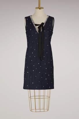 Miu Miu Crystals denim dress
