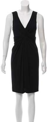 Michael Kors V-Neck Pleated Dress