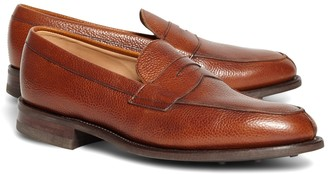 Brooks Brothers Peal & Co. Cognac Pebble Loafers